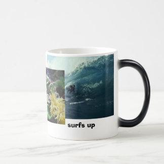 Big Wave,  Fish, surfs up Morphing Mug