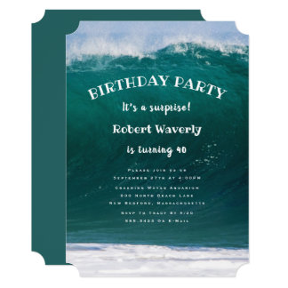Big Wave Guys Surprise Birthday Party Invitation