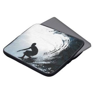 Big Wave Surfer Personalized Laptop Sleeve