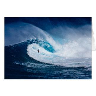 Big Wave Surfer Surfboarding Ocean Blank Notecard