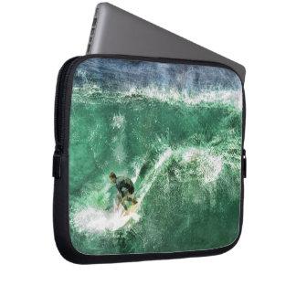 Big Wave Surfing Laptop Computer Sleeves