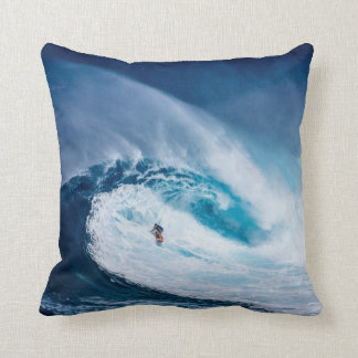 Big Wave Surfing Oceanscape Throw Pillow