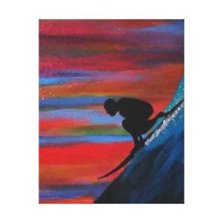 Big waves canvas print