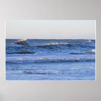 Big Waves Photo Poster