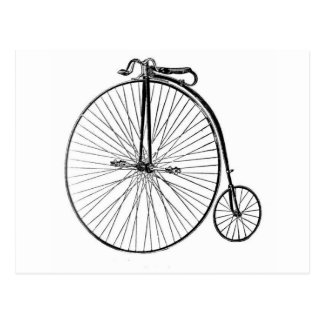 Big Wheel Bicycle Postcard