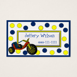 Big Wheel Childrens Calling Card