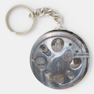 Big Wheels Keep on Turnin' Railroad Engine Key Ring