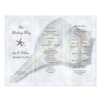 Big Whelk Shell Tri-Fold Wedding Program Flyer
