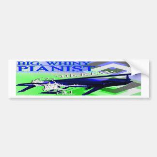 Big Whiny Pianist Bumper Sticker Blue Green