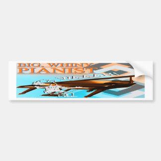 Big Whiny Pianist Bumper Sticker Cyan & Orange