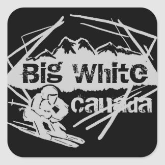 Big White Canada skier sticker