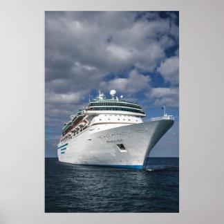 Big White Cruise Ship Poster