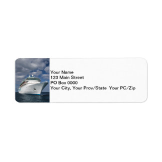 Big White Cruise Ship Return Address Label