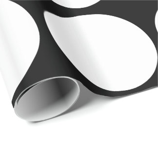 Big White Dots Wrapping Paper