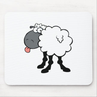 Big White Sheep Mouse Pad