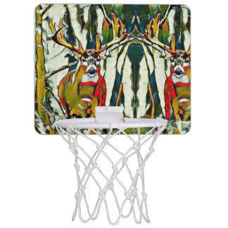 Big Whitetail Buck Outdoors Acrylic Mini Mini Basketball Hoop