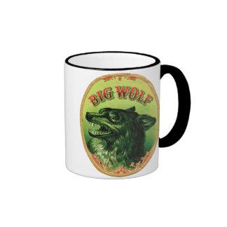 Big Wolf Cigar Label Ringer Coffee Mug