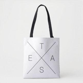 Big X Texas Black and White Tote Bag