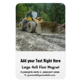 Big Yellow Bulldozer Tractor Heavy Equipment Rectangular Photo Magnet