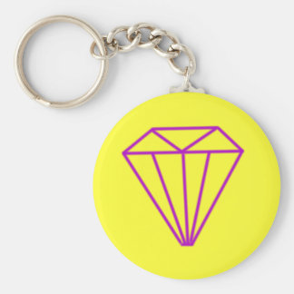 Big yellow diamond keychain