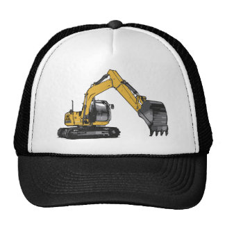 Big Yellow Excavator Trucker Hat