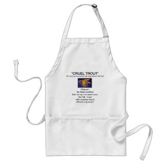 """""""Big Yellow May Wet Fly-Cruel Trout""""  Apron"""