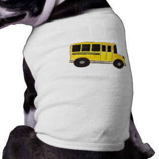 Big Yellow School Bus Dog Pet Shirt