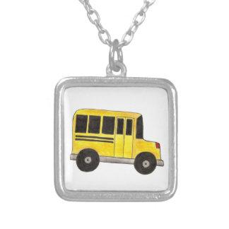 Big Yellow School Bus Driver Teacher Necklace