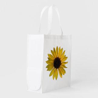 Big Yellow Sunflower Reusable Grocery Bag