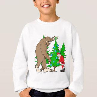 Bigfoot and Santa Christmas Sweatshirt
