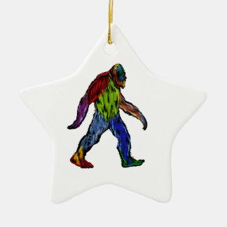 Bigfoot at Large Ceramic Ornament