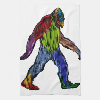 Bigfoot at Large Tea Towel