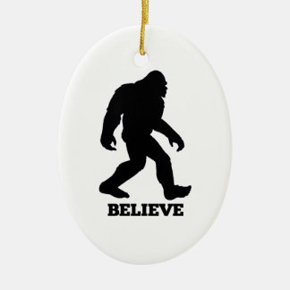 Bigfoot BELIEVE Sasquatch Ceramic Ornament