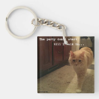 """Bigfoot Buster """"The Party Don't Start.."""" Keychain"""