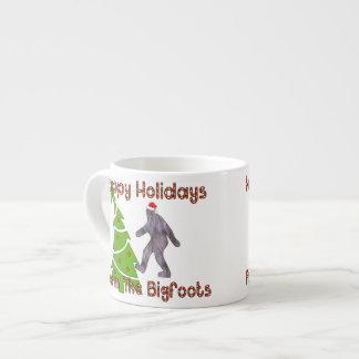 Bigfoot Christmas Espresso Mug