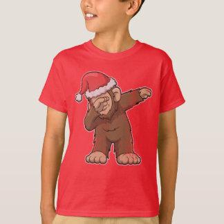 Bigfoot Dabbing Squatch Christmas T-Shirt