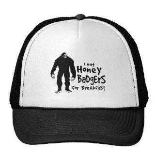 Bigfoot eats Honey Badgers for Breakfast Trucker Hat