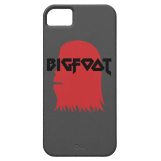 Bigfoot Face and Text - Red and Black Stencil iPhone 5 Case