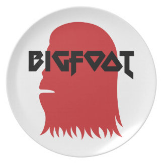 Bigfoot Face and Text - Red and Black Stencil Plate