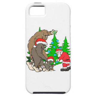 Bigfoot family  and Santa iPhone 5 Covers