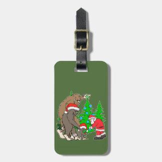 Bigfoot family  and Santa Luggage Tag