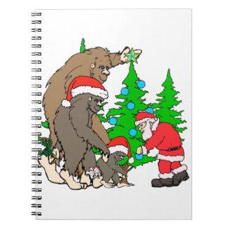 Bigfoot family  and Santa Notebooks