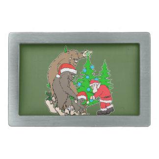 Bigfoot family  and Santa Rectangular Belt Buckles