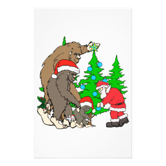 Bigfoot family  and Santa Stationery
