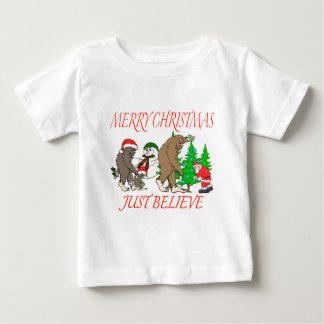 Bigfoot Family Christmas 2 Baby T-Shirt