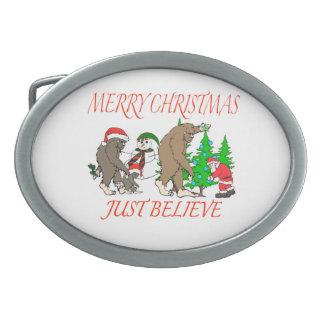 Bigfoot Family Christmas 2 Belt Buckle