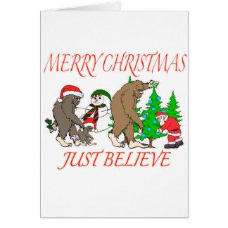 Bigfoot Family Christmas 2 Card