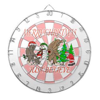 Bigfoot Family Christmas 2 Dart Board