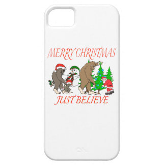 Bigfoot Family Christmas 2 iPhone 5 Covers