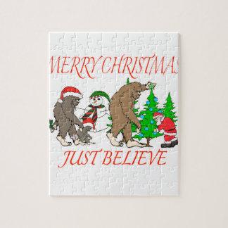 Bigfoot Family Christmas 2 Jigsaw Puzzle